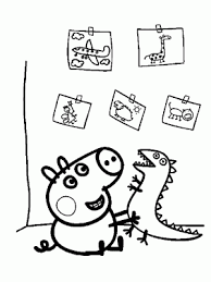 Dibujo Para Colorear Peppa Pig Online Cute Clipart Peppa Pig