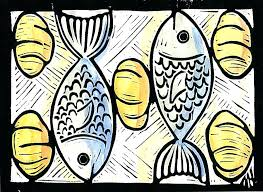 two fish and five loaves of bread coloring page marvelous interesting best fishes kids