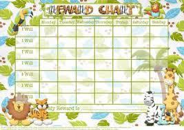 Chart Jungle Jungle Fun Childs Reward Chart