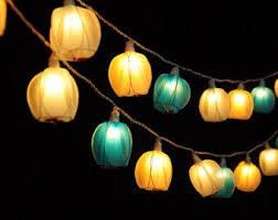 Blue Flower Fairy String Lights For Bedroom Indoor By Narongsak