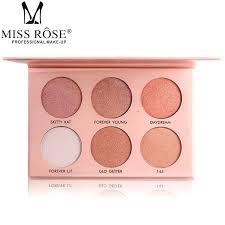 miss rose ultimate glow face glowkit highlighter powder contour kit palettte face highlighter powder bronzer makeup bronzing cream bronzer from cangchun