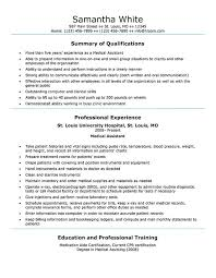 Example Of Medical Assistant Resume Resume Template Medical Assistant Medical Assistant Resume