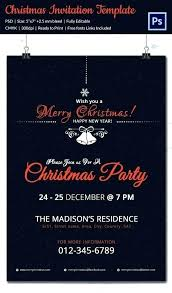 Christmas Party Template Invitation Guluca