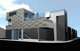 modern architectural design. Beautiful Modern Sunset Beach Mixed Use 3d Design Exterior Entryway And Modern Architectural