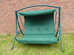 garden swing seat cushions uk. green 3 seater garden swing seat hammock with cushions uk e