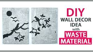 diy wall decoration ideas from waste