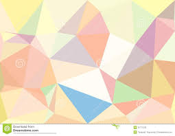 Abstract Pastel Color Low Poly Bokeh ...