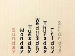 曜日 英語