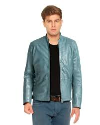 brown lambskin leather jacket with shouler patches front scroll up mens
