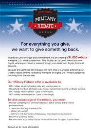 Incentives: Toyota Military rebate | Bergeron Toyota