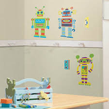 build your own robot wall stickers on robot nursery wall art with build your own robot wall stickers wall decals nursery decor