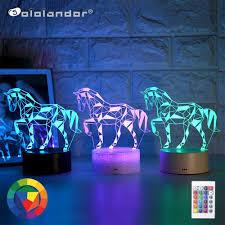 2020 Mới Nhất 3D LED Kid Đèn Ngủ Sáng Tạo Bàn Ăn Đèn Ngủ Lãng Mạn Ngựa Ánh  Sáng Đèn Trẻ Em Trang Trí Nhà Tặng|Đèn LED ban đêm