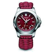 victorinox 241744 i n o x paracord red fabric and steel men s victorinox swiss army 241744 i n o x paracord red fabric steel men s watch