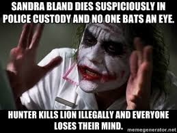Sandra Bland dies suspiciously in police custody and no one bats ... via Relatably.com