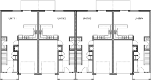 narrow townhouse floor plans the image for 4 plex plans narrow lot
