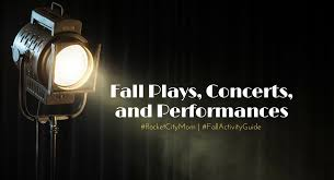 2018 fall concerts plays and performances in huntsville and north al