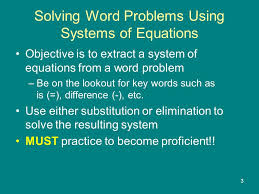 solving word problems using systems of equations