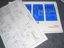 fifth in manuals literature 1983 1984 chrysler fifth avenue dodge diplomat gran fury wiring diagrams set