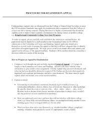 Sample Appeal Letter For College Dismissal Kadil