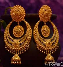 Latest Gold Jhumka Earrings Design With Price In India Gold Jhumkas Gold Earrings Designs