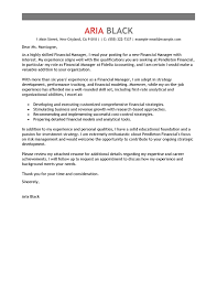 Free Cover Letter Templates Printable Finance Manager Emphasis