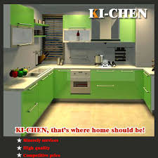 most awesome ready made kitchen cabinets green painted wooden material small room glossy display sleek interior stainless steel assemble