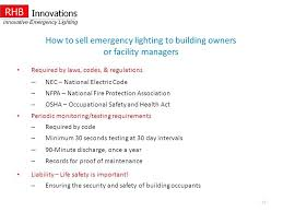 nfpa 101 emergency lighting levels how to building
