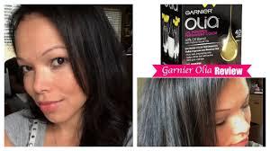 garnier olia hair color review vlog