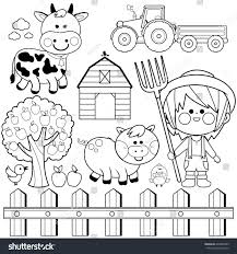 Cow And Chicken Coloring Pages Refrence Farmer Boy Set Child Farm