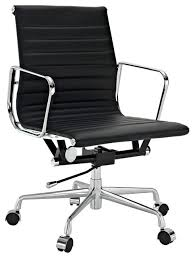 office chair genuine leather white. Ribbed Mid Back Office Chair, Genuine Leather, Black Office Chair Genuine Leather White G