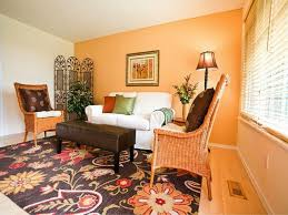 Orange Decorating For Living Room Modern Orange Living Room Decorating Ideas With L Shape Orange