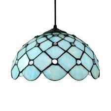stained glass chandelier shades downward dome shade inch hanging pendant lighting in blue stained glass style stained glass chandelier