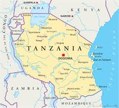 tanzania map with cities  blank outline map of tanzania