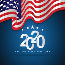 Usa Flag New Year 2020 Celebration Image Wallpaper Hd