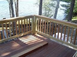 wood deck railing designs diy jbeedesigns outdoor in deck railing staggering