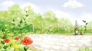Ppt Flowers Flowers Fence Clouds For Powerpoint Templates Ppt Backgrounds