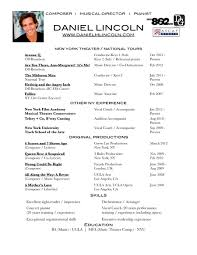 sample resume musical theater cipanewsletter musical theatre resume getessay biz