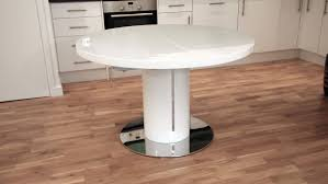 Painted Round Kitchen Table Extending Round Pedestal Dining Table Starrkingschool