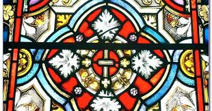 stained glass window patterns to colour