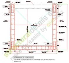 Small Picture Elevator lift Shaft Reinforced Concrete Shear Walls details