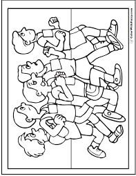 Children Running Coloring Pages At Getdrawingscom Free For