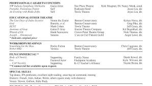 Theater Resume Format Acting Resume Example Free Actors Resume ...