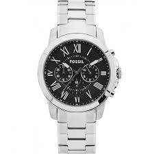 fossil men s grant classic all steel chronograph watch black fossil men s grant classic all steel chronograph watch black dial