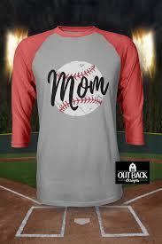Vinyl Baseball Shirt Designs Distressed Mom Baseball Softball Vinyl T Shirt Out Back