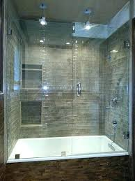 bathroom glass enclosures bathtub shower enclosure ideas tub sliding frameless