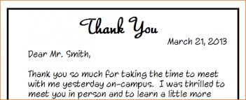 Thank You Notes After An Interview - April.onthemarch.co