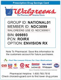 The walgreens app is free to download, but specified rates from your wireless provider and other fees as noted in your walgreens account agreement(s) still apply. Walgreens Pharmacy Discounts Choice Drug Card