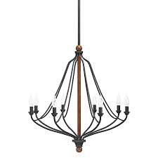 kichler lighting carlotta distressed black wood hardwired standard chandelier at lowe s canada find our selection of chandeliers at the t
