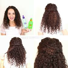 Second Day Curly Hairstyles 7 Easy Hairstyles For Curly Hair Weekly Change Ups With Garnier