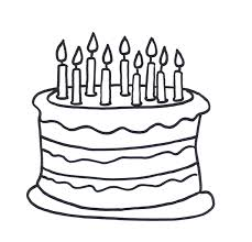 Small Picture Coloring Pages Birthday Cake To Color Pictures Free Cakes And
